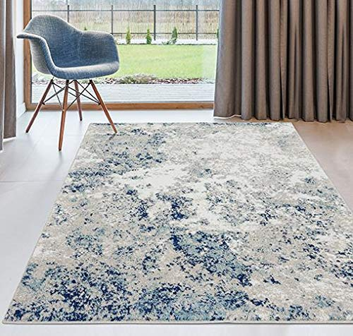 Persian Rugs Beverly Ivory 8 x 10 Abstract Modern Area Rug
