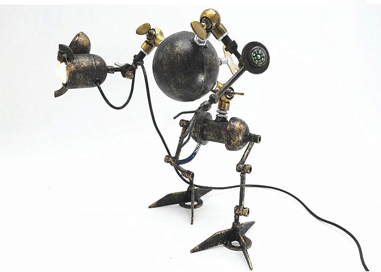 DIY Retro Wasser Wasser Wasser Rohr Lampe industrielle Schmiedeeisen Tischlampe Plug-in, USB-Schnittstelle LED integrierte Lampe Perle Dekoration Dachboden Studie Nachttischlampe Leselampe B07KPVD16H | Genial  5a8bde