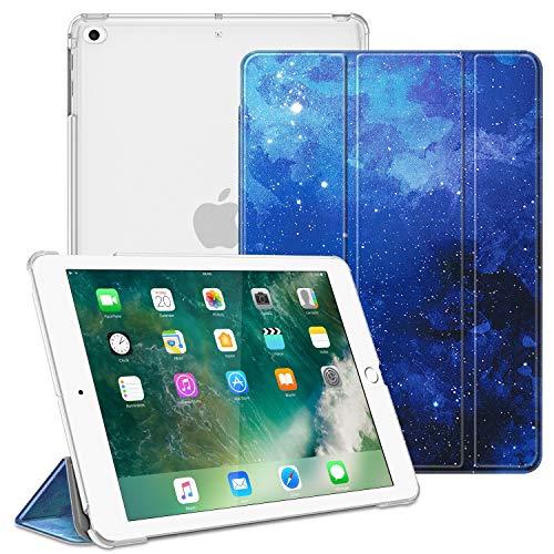 Fintie Hülle für Pad 9.7 Zoll 2018 2017 / iPad Air 2 (2014) / iPad Air (2013) - Superdünn Schutzhülle mit durchsichtiger Rückseite Abdeckung Cover mit Auto Schlaf/Wach Funktion, Sternenhimmel