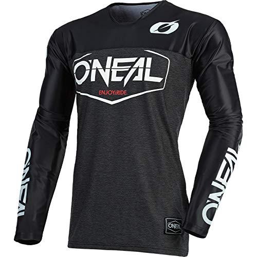 O'NEAL | Motocross-Trikot | Enduro Motorrad | Schnell trocknendes Performance-Material, Mit großer Bewegungsfreiheit, Slim Fit Schnitt | Jersey Mayhem Hexx | Erwachsene | Schwarz | Größe L