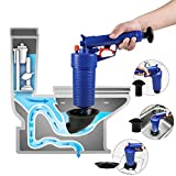 ETERNA Air Drain Blaster, Sink Plunger, Air Power Toilet Plunger, Manual Pump Cleaner,Pipe Blaster, High Pressure Plunger for Bath/Toilet/Sink/Floor Drain/Kitchen Clogged Pipe