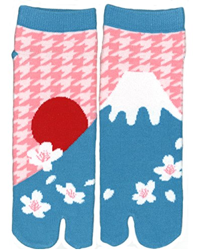 Samurai market Japanische Zehensocken Mt. Fuji Kirschblüten Hanami Unisex Größe 34-48 Samurai Socken