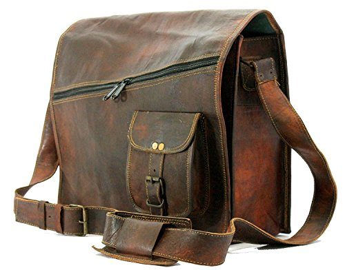 Aditya Art & Craft Mens Satchel Vintage Leather Messenger Bag Brown Handmade Shoulder Best Laptop Cross Body Best Sling Bag