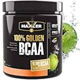 Maxler 100% Golden BCAA Powder - Intra & Post Workout Recovery Drink for Accelerated Muscle Recovery & Lean Muscle Growth - 6 g Vegan BCAAs Amino Acids - 30 Servings - Green Apple
