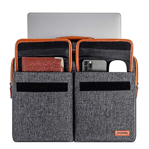 MCHENG 10,1-10,5 Zoll Wasserdicht Laptoptasche Schultertasche Multifunktion Laptophülle mit Verstellbarer Schultergurt und unterdrückter Griff für Samsung/iPad/Lenovo/Asus/HP, Schwarz