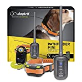 Dogtra Pathfinder Mini GPS Electronic Dog Training Collar for Small to Medium Dogs - 4-Mile Range, 100 Levels Nick and Constant Stimulation, Tone, Waterproof, Expandable to 21 Dogs, w/PetsTEK Clicker