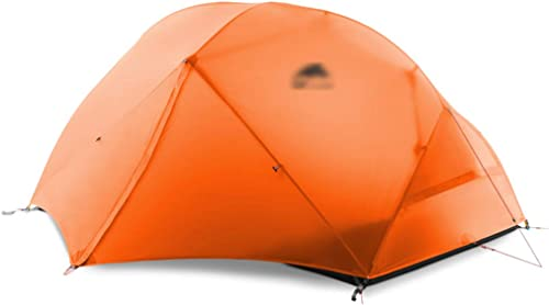 Yunyisujiao Tentes tentes pour Camping Colehomme Tente Double Tente de Camping Trois Saisons Double canopée tempête de Pluie Tente de Camping Tente (Couleur   Orange, Taille   210  130  110CM)