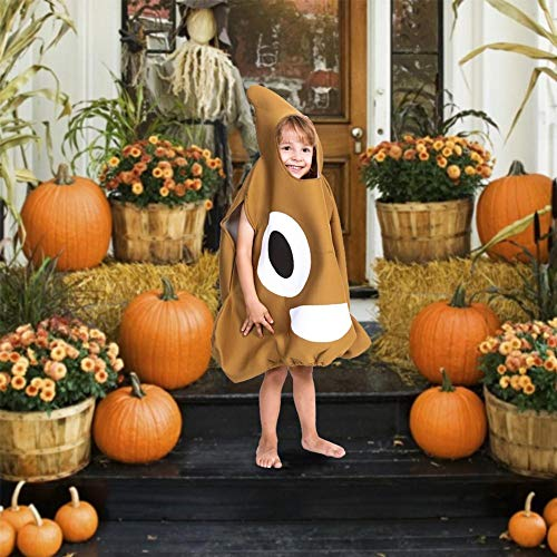 arbitra Disfraz de Caca para niños Disfraces de emoticones Unisex para niños Disfraces de Halloween Disfraz de Caca de Halloween Fiesta de emoticones Divertida Disfraces de Halloween Excellent