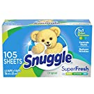 Snuggle Plus Super Fresh Fabric Softener Dryer Sheets with Static Control and Odor Eliminating Technology, 105 Count (Packaging May Vary), EverFresh