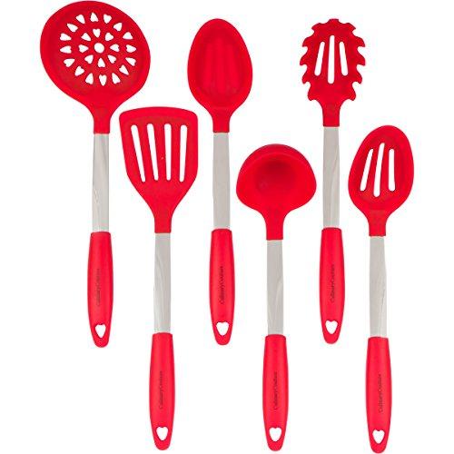 Rouge Set d'Ustensiles de Cuisine -...