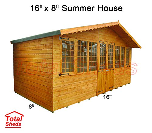 Total Sheds 16ft (4.8m) x 8ft (2.4m) Summer House Cabin Supreme Cabin