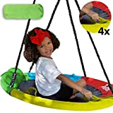 Hazli 40' Saucer Swing for Kids Outdoor with Straps- Round Outdoor Swings for Swing Set - Large Tree Swings for Children with Hanging Kit - Heavy Duty Children Disk Swing for Outside