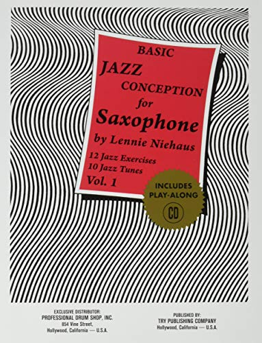 TRY1057 - Basic Jazz Conception for Saxophone Volume 1 - Book/CD