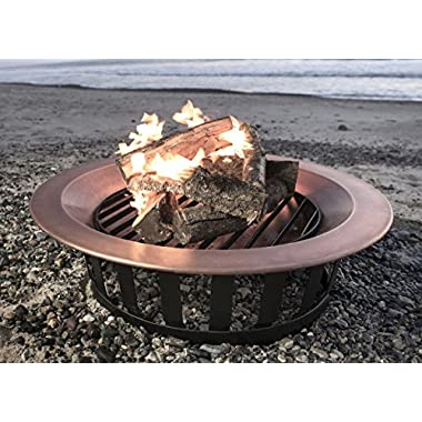Titan 40  Solid 100% Copper Fire Pit Bowl Wood Burning Patio Deck Grill