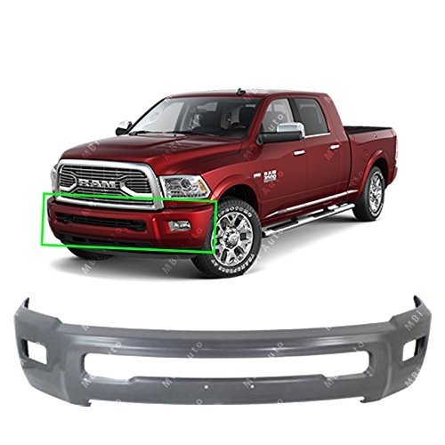 MBI AUTO - Primered, Gray Steel Front Bumper Face Bar Fascia for 2010 2011 2012 2013 2014 2015 2016 2017 2018 RAM 2500 3500 Heavy Duty W/Fog Light Holes 10-18, CH1002392