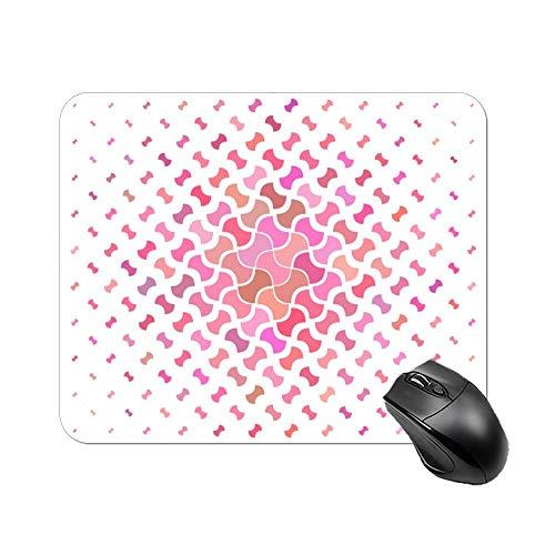 DKISEE Rechthoekige muismat Pink Geometric Collection non-slip rubberen muismat voor laptop, computer en PC, 9.8