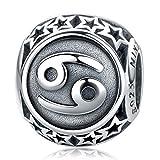 NINAQUEEN Charm für Pandora Charms Armband Krebs Sternzeichen Geschenk für Frauen Silber 925 Zirkonia Schmuck Damen mit Schmuckkasten