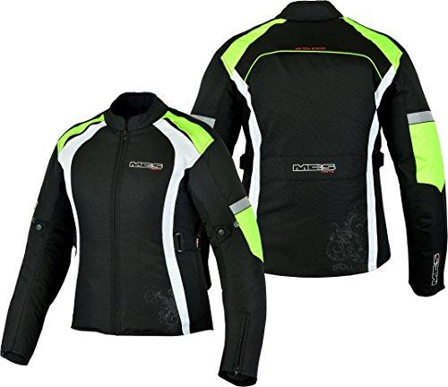 MBSmoto MJ24 Damen Motorrad Roller Touring Wasserdichte Damen Textil Cordura Jacke (4XL, Gelb)