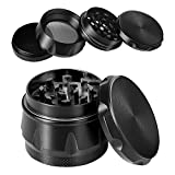 iRainy G2 Pro 2.3 Inch Spice Herb Grinder 4 Pieces with Pollen Catcher