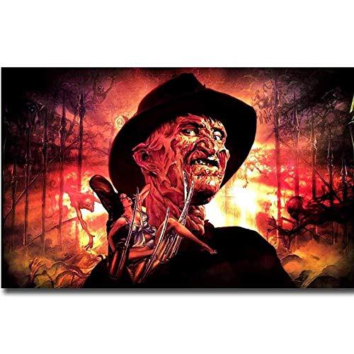 AO Five (23.6x35.4inch) Diamantmalerei Kreuzstich Horrorfilm Albtraum auf der Ulmenstraße Freddy Krueger Diamantstickerei Halloween-Dekor