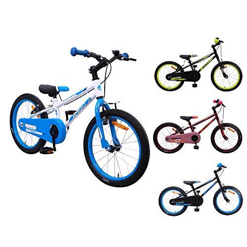 AMIGO Cross - kinderfiets - 20 inch - jongens - met voor- en achterrem - vanaf 5 jaar - wit/blauw