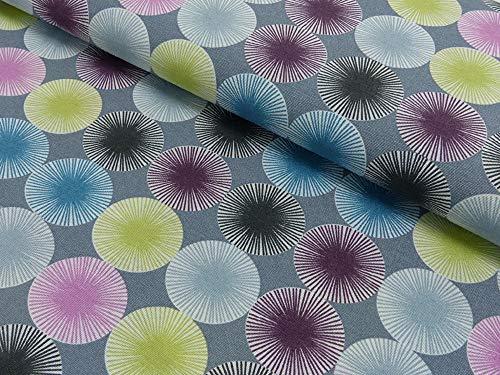 Stoff Meterware Baumwolle türkis grün blau sunrise Fächer Kleiderstoff Dekostoff
