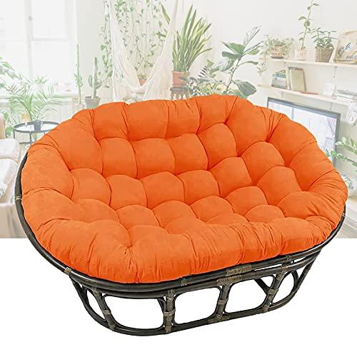 Cuscino Dondolo, Sedia Cuscini, Papasan Poltrona Cushion, Addensare Cuscini per Chair Rattan Amaca 170 * 120 (Nessuna Sedia),Arancia,Ordinary