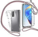 MXKOCO Funda con Cuerda para Xiaomi Mi 10T/10T Pro 5G [360 Grados Protección] Carcasa de movil con Cuerda para Colgar-Correa para Hombro y Cordón Colgante/Carcasa Banda con Cordon para Llevar