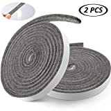 Boao BBQ Smoker Gasket High Temp Seal Strip Self Stick Gasket Grill Tape, 7.5 Ft Length 1/2 Inch Width 1/8 Inch Thickness Gray (2)