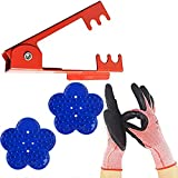 LuFOX 4PCS Rose StripperThorn Remover Tool Kit Thorn and Leaf Stripping Tool & Garden Glove