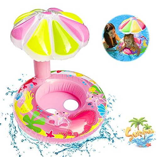 Baby Schwimmring,Baby schwimmring mit Sonnenschutz,Baby schwimmring aufblasbarer,Baby Pool Schwimmring,Schwimmreifen für Babys,Baby Schwimmring Aufblasbarer,für Kinder ab 3 Monaten bis 36 Monaten