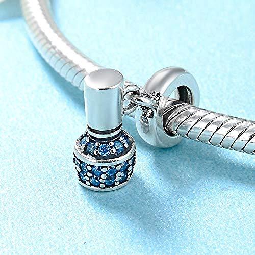 Charm Kralen,Charmante Vrouwelijke Blauwe Nagellak 925 Sterling Zilveren Kralen Passen Originele Charme Armbanden Zilveren Sieraden Diy