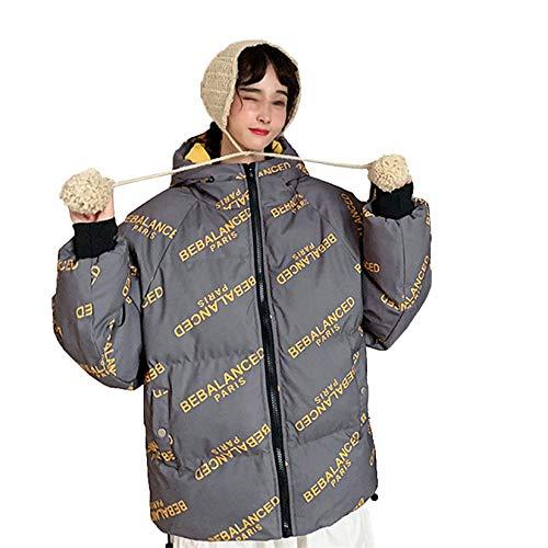 XYJD Abrigo de Hombre Abrigo de Pan de Pareja de Hombre Abrigo de algodón de plumón para Hombre Abrigo de Invierno Suelto con Capucha Simple Chaqueta Acolchada