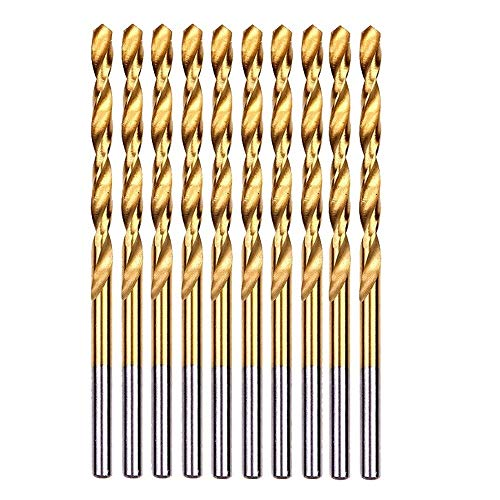 CJIANHUA Tools 10PCS/Set 12mm Twist Spiral Drill Bits HSS Fully Ground DIN338 Titanium Coated Woodworking Wood Metric Drilling Tool for Metal All New Never Used