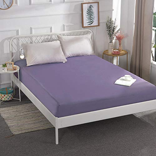 CYYyang Unterbett Soft-Matratzen-Topper, Matratzenschutz Boxspring-Betten geeignet Wasserdichtes Bettlaken einteilig atmungsaktiv - 6_180 * 200 cm