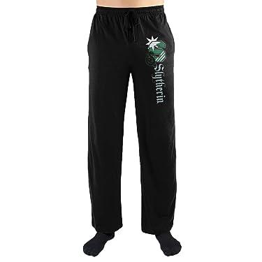 Bioworld Harry Potter S Slytherin Logo Print Men's Loungewear Lounge Pants