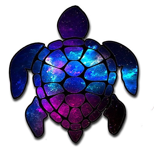 itsaskin1 Sea Turtle Galaxy Outer Space Moon Stars Space Gasses Turtle Sticker Decal for Car (Made in the U.S.A.)