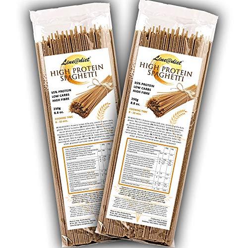 SPAGHETTI SEMILAVORATI Line@ 55% di PROTEINE! La pasta amica della tua linea | Alto contenuto di proteine e fibre | ridotti carboidrati! (10 porzioni (500g))