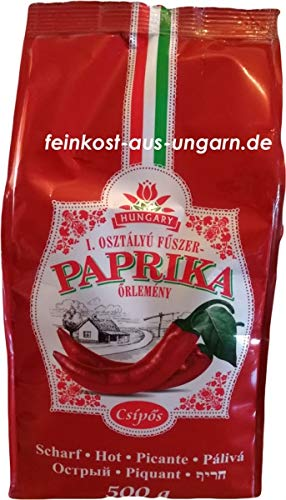 Gemahlener Gewürzpaprika aus Kalocsa im Papierbeutel