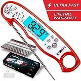 Kizen Instant Read Meat Thermometer - Best Waterproof Ultra Fast...