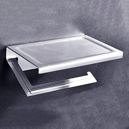 WLP-WF Dispensadores de Toallas de Mano de Papel Soporte de Pared de Aluminio Soporte de Toalla de Papel Higiénico Soporte de Rollo de Papel de Cocina Estante de Alenamiento de Teléfono Móvil Cajas d