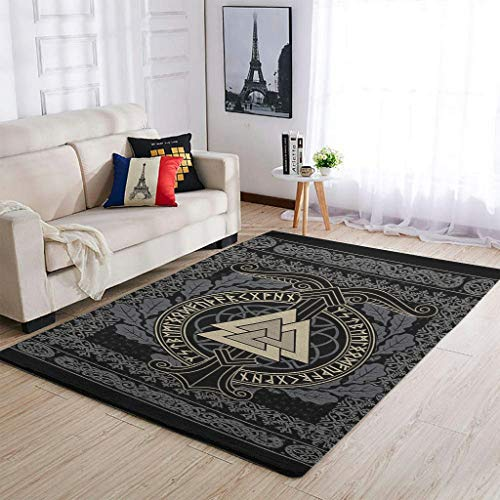 Knowikonwn Lujosas alfombras vikingas para sala de estar, muy lindas, cómodas, para...