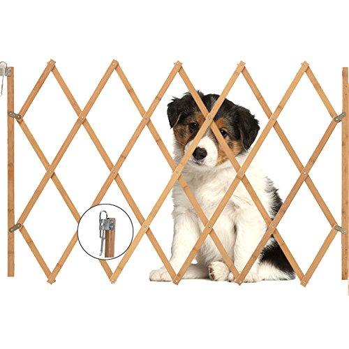 AllRight Hundeabsperrgitter Hundegitter Hundegatter Schutzgitter Treppenschutzgitter Holz aufziehbar Befestigungsmaterial 75 x 105 cm