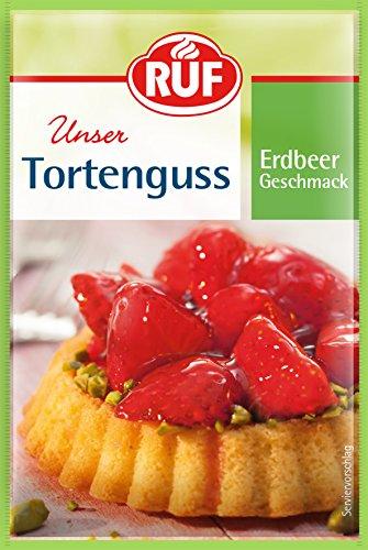 RUF Lebensmittelwerk Tortenguss Erdbeer, 28er Pack (28 x 36 g)