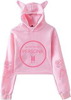 Women BTS Cute Hoodie BTS Persona Map of The Soul Sweatshirt Jimin Rap Monster V Suga