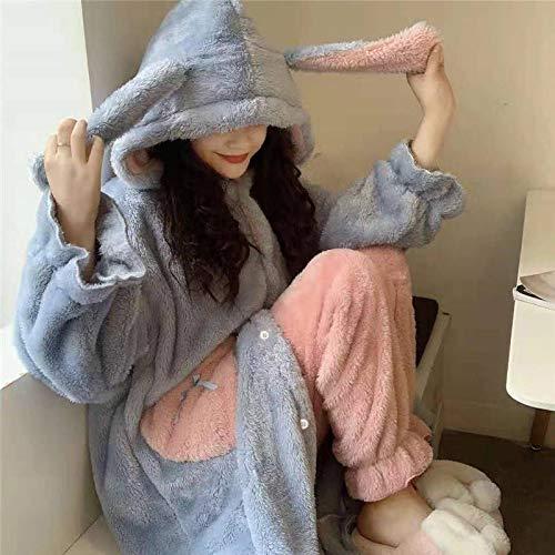 Unisex Onesie Pyjamas Roben Frauen Herz Taschen Mit Kapuze Flanell Warme Verdickung...