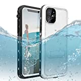 DOOGE iPhone 11 6.1 Waterproof Case, IP69k Certified Shockproof Dirtproof Snowproof Full-Body Heavy Duty Protection Rugged Waterproof Case with Kickstand Screen Protector for Apple iPhone 11 6.1'