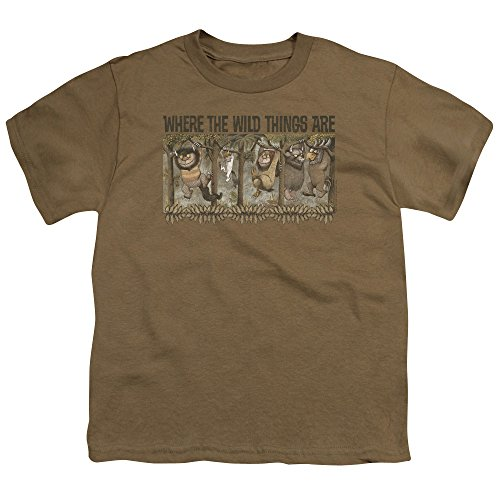 Where The Wild Things Are - Wo die Wilden Kerle sind - Youth Hang T-Shirt, Small, Safari Green