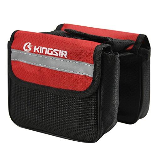 MOONLOVE Fahrradtasche Doppel-Gepäckträgertasche wasserdicht Fahrrad-Seitentaschen Rahmentaschen Satteltasche 2L mit Reflektions-Streifen