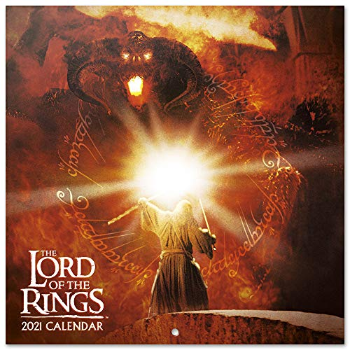 Grupo Erik Official The Lord of The Rings 2021 Wall Calendar 11.8 x 11.8 inches (12 Months - Free Poster Included) Family Planner Calendar 2021 CP21080